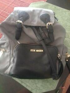 Steve Madden Light Weight Gray Nylon backpack/purse