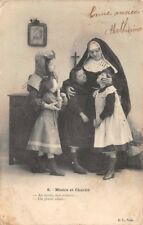 """CPA - Miseria y Charité """" Adiós mes niños o más bien adieu """""""