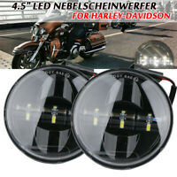 """2x 4.5"""" LED Nebelscheinwerfer Zusatzscheinwerfer Tagfahrlicht für Harley"""