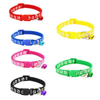2 Pack Adjustable Cat Collar with Bell, Fashion Paw Print Design Pet Collar,  Y6
