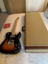 Fender Telecaster 1972 Custom Black/Maple Sunburst MINT & NEW Fender Case
