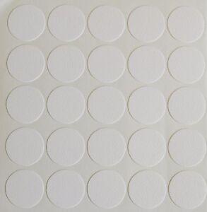 18MM SELF ADHESIVE CAM SCREW HOLE COVER CAP WHITE FURNITURE CABINET BOOKCASE