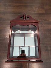 Glass Door Curio Cabinet, Wall Mount, Shelf Display