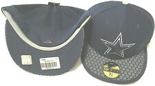 Dallas Cowboys New Era 5950 Flat Brim Fitted Pick Your Size NFL Sideline Cap