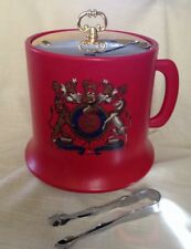 Vintage Red Ice Bucket Kraftware   (L24XB8)