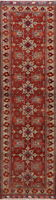 Geometric Super Kazak Hand-Knotted 10 ft Runner Rug Hallway Oriental Carpet 3x10