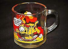 Garfield & Friends Animation Art Character Coffee Mug Glass Cup 1978 McDonald's