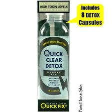 QUICK CLEAR DETOX Drink 20 oz & 8 DETOX Capsule BLUEBERRY ACAI similar to QCARBO
