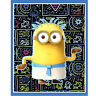 """EGYPTIAN MINIONS DESPICABLE ME  35"""" x 44"""" COTTON FABRIC PANEL QUILTING TREASURES"""