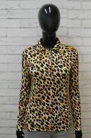 BLUMARINE Maglia Donna Taglia M Polo Manica Lunga in Modal Casacca Shirt Woman