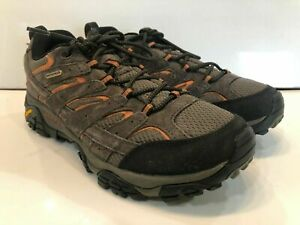Merrell Moab 2 Mens Hiking Shoes Waterproof Espresso Brown J06027 size 9.5