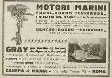 W5060 Motori Marini EVINRUDE - Canepa & Maxia - Pubblicità 1925 - Advertising