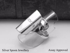 ASSAY APPROVED CHUNKY SOLID STERLING SILVER SPOON RING  - SIZE M N O P Q