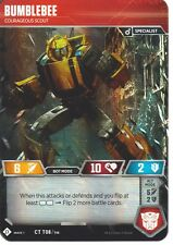 1x Bumblebee // Courageous Scout - OVERSIZE Foil MTG Transformers Cards NM Magic
