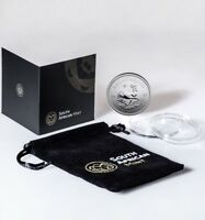 2 x 1 Once argent pur 999 / 2 x South Africa 1 Oz KRUGERRAND 2017 Fine Silver PU