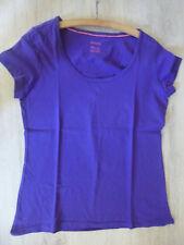 Damen T-Shirt Gr. 40/42 violett Kurzarm