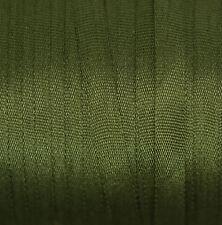 Silk Ribbon 4mm 100% Pure Embroidery Dark Green 406 - 3mtr