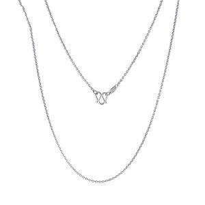 18 INCH L Platinum 950 Necklace Women & Men O Chain 3-3.5g