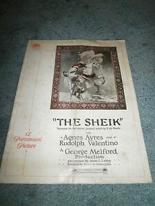 THE SHEIK(1921)RUDOLPH VALENTINO ORIGINAL PRESSBOOK VERY RARE!!!