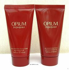 YVES SAINT LAURENT OPIUM - BODY MOISTURISER & LUSCIOUS SHOWER GEL -NEW 2 X 50ml