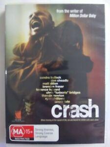 CRASH 2004 DVD Thriller Sandra Bullock Don Cheadle FREE POSTAGE