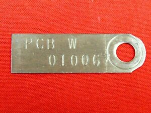 68 Mustang, Shelby GT500, Cougar, C6 Transmission Tag PGB W