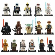 16Pc Mini Figures Star Wars Fit lego yoda vador C-3PO HAN SOLO CHEWBACCA kanobi