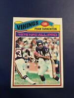1977 Topps # 400 FRAN TARKENTON Minnesota Vikings NM-MINT 8 +