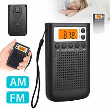 Mini Digital Portable Pocket Handy LCD Speaker AM FM Radio MP3 Music Player New
