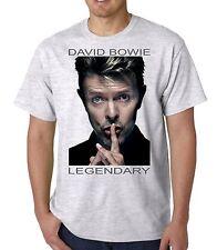 David Bowie T Shirt Unisex Ash Grey Full Colour S, M, L, XL, XXL