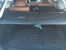 Lexus RX350 and RX450h 2013-2015 Cargo cover w.extension.BLACK