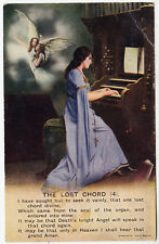BAMFORTH SONG CARD #4830/4 - The Lost Chord - Church Organ - c1910s era postcard