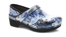 Dansko LT Pro Silver/Blue Paisley Patent Clog Women's sizes 36-42/6-12 NEW!!!