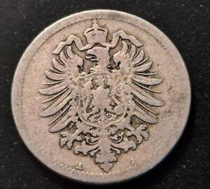 1875-A Germany 10 Pfennig Old Coin