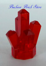 NEW Lego CRYSTAL Trans Red Jewel Rock Monster Miner Minifigs Treasure Chest Gem