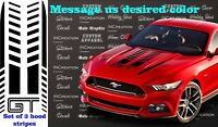 x3 Vinyl Hood Decal Sticker Fits Mustang GT Shelby Sport Graphics racing stripes
