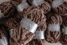 5 Pelotes de laine peluche 100 % Acrylique Mango - 115 dégradé beige