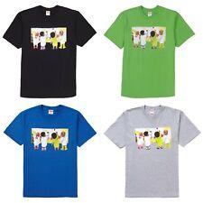 SUPREME Kids Tee Green Black Heather Grey Royal M box logo camp cap S/S 19