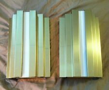2 Sconces Wall Lamps Brass Look / Lucite Art Deco Style Hard Wired Bulbs Incl