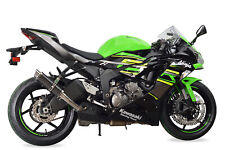 Kawasaki ZX6R Exhaust 2019 SP Engineering Carbon Fibre Round Stubby Moto GP