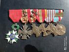 PL : Placard de médailles françaises GUERRE 1939 1945 WW2 ALGERIE medal
