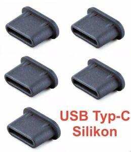 5x USB Typ-C Staubschutzstecker Stöpsel Silikon für LG K92 5G