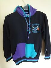 EUC Starter Charlotte Hornets 90's Youth M Sewn Pullover Hoodie Sweatshirt