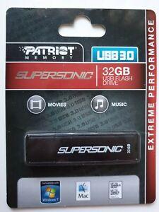 Patriot Supersonic 32GB USB 3.0 Flash drive