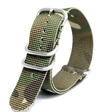 Praetorian® DiverTec Extrem Nato / Zulu Armband Woodland Camo 22mm