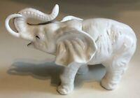 Vintage 6928 Lenwile Ardalt China White Elephant Trunk Up Figurine Japan