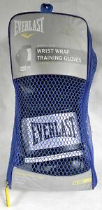 "Everlast Men's ""Wrist Wrap Training Gloves"" 12 oz, Boxing Level I, Black/White"