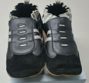 New ROBEEZ Soft Soles Boy's Stopper Black Booties Shoes 5-6 Years FREE Shipping