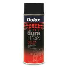 Dulux Duramax High Heat Enamel Spray Paint Durable UV Proof Flat Black 300g