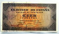 Spain-Billete. 100 Peseta 1938. Burgos. SC-/UNC-. Escaso